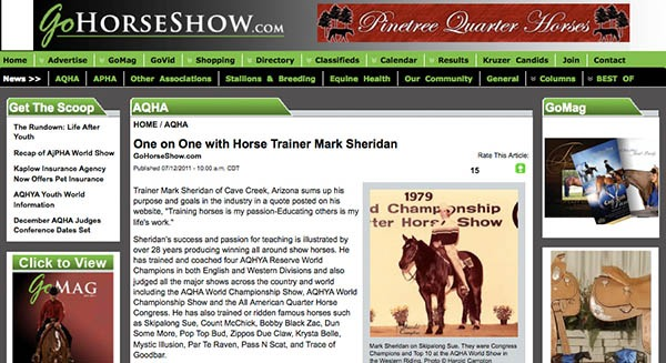 go horse show article